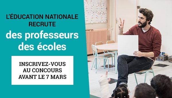 Recrutement de professeurs des écoles pour l'académie de Créteil