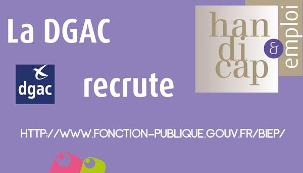 Campagne DGAC pour le recrutement d'élèves en situation de handicap