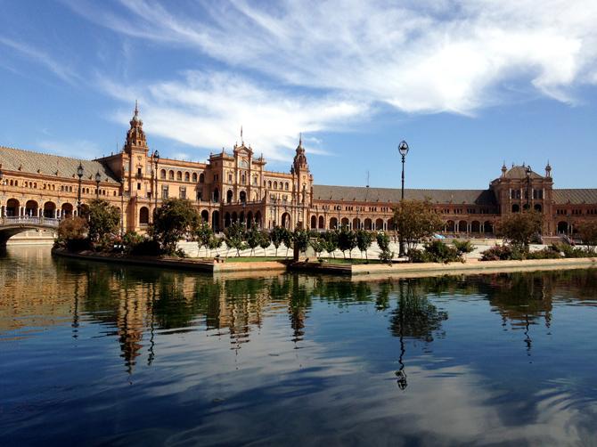 La plaza de España à Séville.
