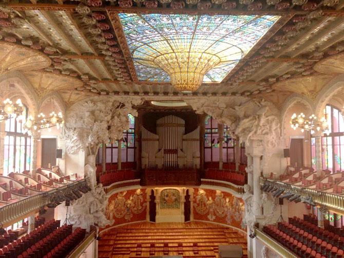 Palais de la musique catalane.