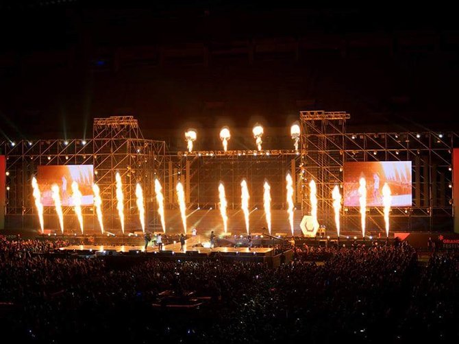 Concert de Kpop à l'Olympic Stadium, Seoul.