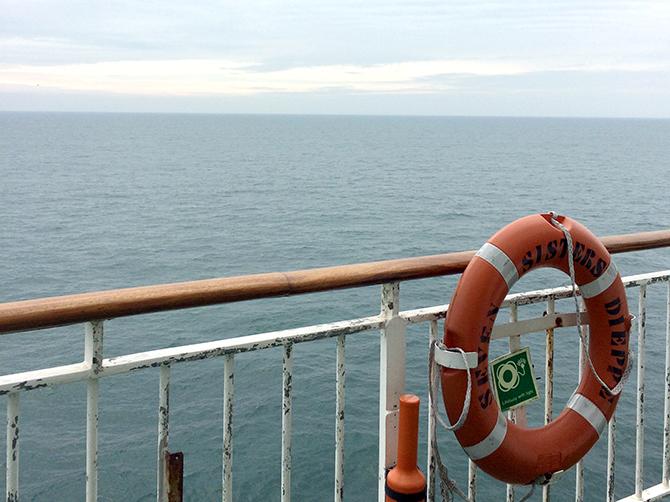 Le ferry ''Seven sisters'' qui m'amena de France à Grande Bretagne.